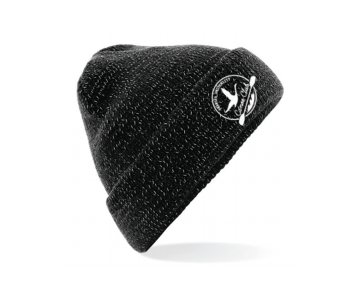 Swansea University Canoe Reflective Black Beanie (All Embroidery)