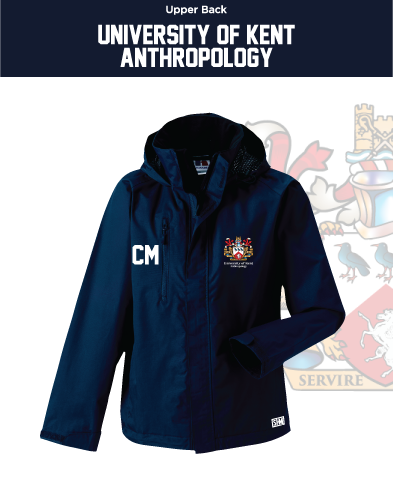Kent University Anthropology Navy Womens Hydroplus Jacket (Logo Emb, Everything Else Print)
