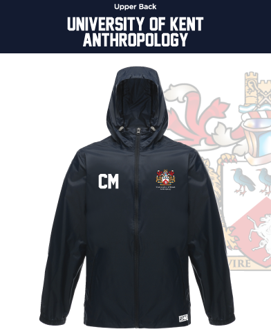 Kent University Anthropology Navy Unisex Windbreaker (Logo Emb, Everything Else Print)