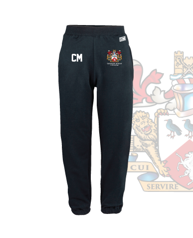 Kent University Anthropology Navy Unisex Sweatpants (Logo Emb, Everything Else Print)