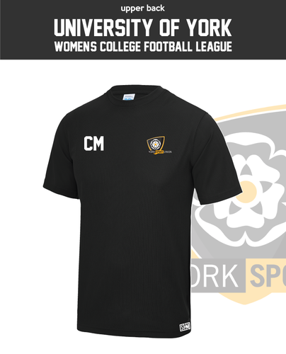 York University Womens Football Performance Tee (All Print)