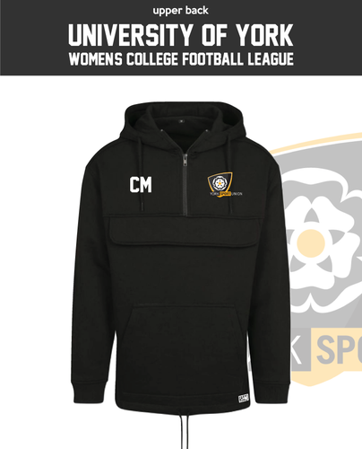 York University Womens Football Womens Pull Over (Logo Embroidery, Everything Else Print)