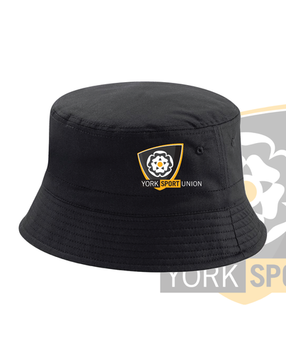 York Univeristy Womens Football Black Bucket Hat (All Embroidery)