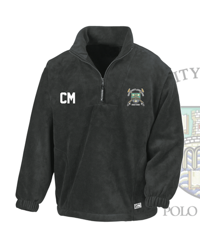 Stirling University Polo Black Unisex Fleece (All Embroidery)
