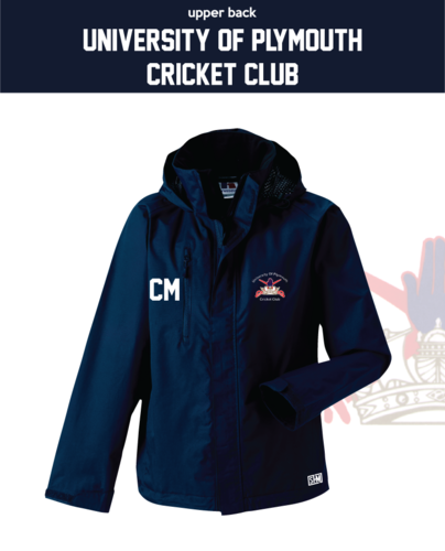 University Of Plymouth Cricket Navy Mens Hydroplus Jacket (Logo Emb, Everything Else Print)