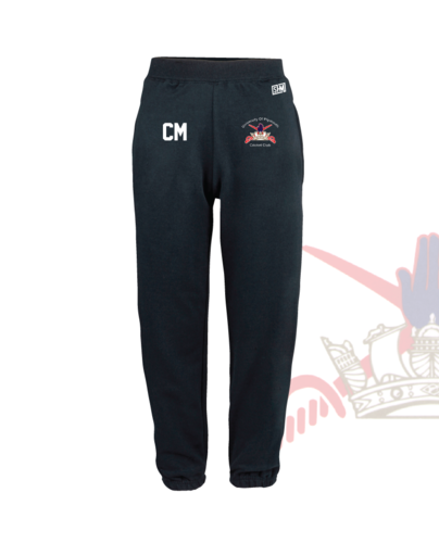 University Of Plymouth Cricket Navy Unisex Sweatpants (Logo Embroidery, Everything Else Print)