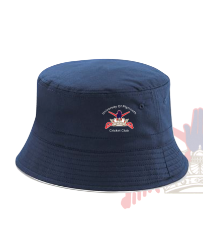 University Of Plymouth Cricket Navy Bucket Hat (All Embroidery)