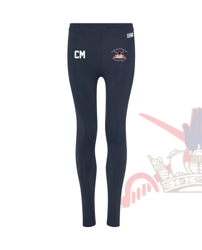 University Of Plymouth Cricket Navy Womens Leggings (All Print)