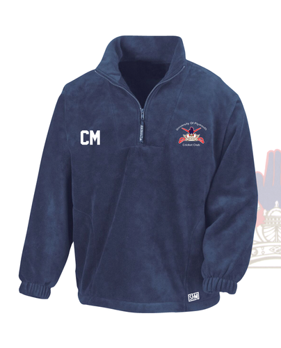University Of Plymouth Cricket Navy Unisex Fleece (All Embroidery)