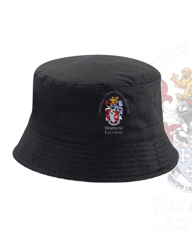 CCCU Womens Lacrosse Black Bucket Hat (All Embroidery)
