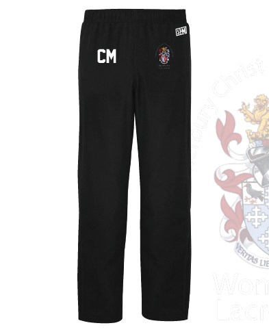 CCCU Womens Lacrosse Black Unisex Trackies (Logo Embroidery, Everything Else Print)