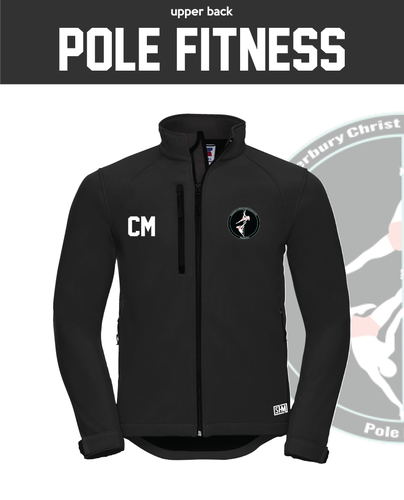 CCCU Pole Black Womens Softshell (Logo Embroidery, Everything Else Print)