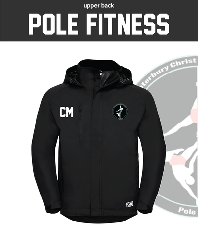 CCCU Pole Black Mens Hydroplus Jacket (Logo Embroidery, Everything Else Print)