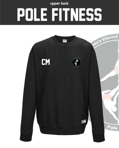 CCCU Pole Black Unisex Sweatshirt (Logo Embroidery, Everything Else Print)