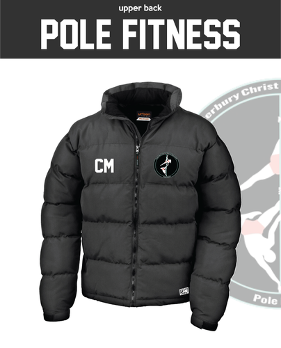 CCCU Pole Black Unisex Puffa (Logo Embroidery, Everything Else Print)