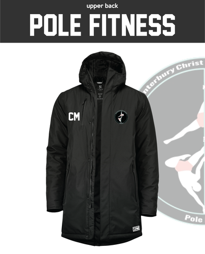 CCCU Pole Black Unisex Sub Jacket (Logo Embroidery, Everything Else Print)
