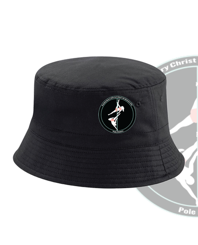CCCU Pole Black Bucket Hat (All Embroidery)