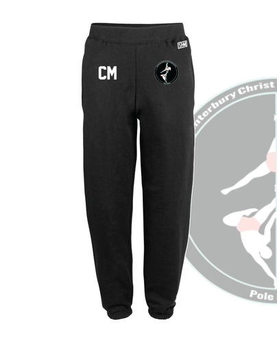 CCCU Pole Black Unisex Sweatpants (Logo Embroidery, Everything Else Print)