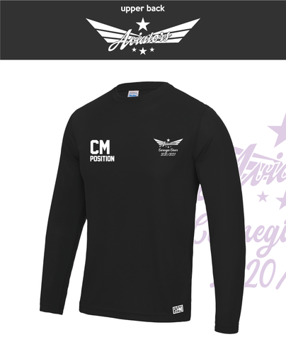 Carnegie Cheer Black Womens Long Sleeve Performance (All Print)