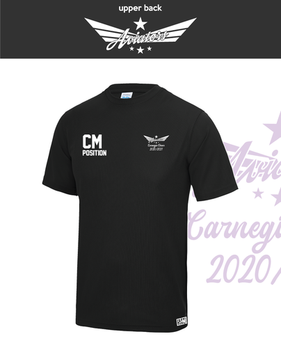 Carnegie Cheer Black Womens Performance Tee (All Print)