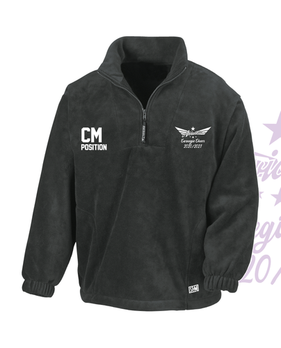 Carnegie Cheer Black Unisex Fleece (All Embroidery)