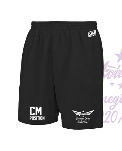 Carnegie Cheer Black Unisex Shorts (All Print)