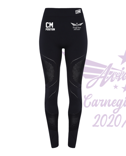 Carnegie Cheer Black Womens Mesh Leggings (All Print)