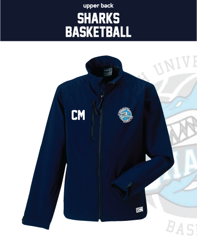 Plymouth University Basketball Navy Womens Softshell (Logo Embroidery, Everything Else Print)