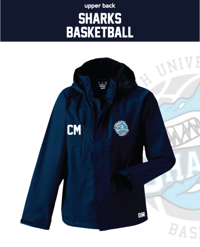 Plymouth University Basketball Navy Womens Hydroplus Jacket (Logo Embroidery, Everything Else Print)