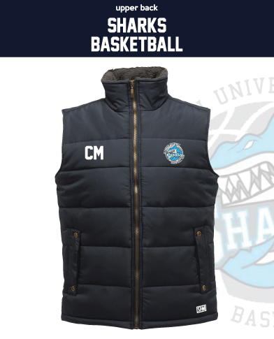 Plymouth University Basketball Navy Unisex Gilet (Logo Embroidery, Everything Else Print)