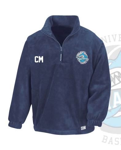 Plymouth University Basketball Navy Unisex Fleece (All Embroidery)