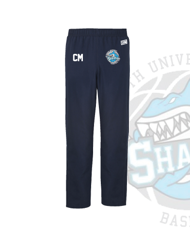 Plymouth University Basketball Navy Unisex Trackies (Logo Emb, Everything Else Print)