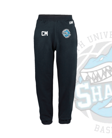 Plymouth University Basketball Navy Unisex Sweatpants (Logo Embroidery, Everything Else Print)