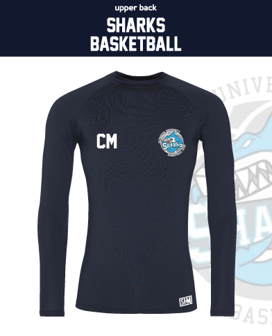 Plymouth University Basketball Womens Navy Womens Baselayer (All Print)