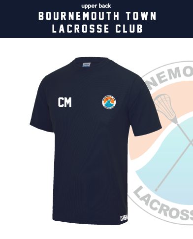 Bournemouth Town Lacrosse Navy Womens Performance Tee (All Print)