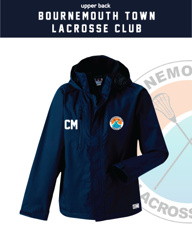 Bournemouth Town Lacrosse Navy Mens Hydroplus Jacket (Logo Embroidery, Everything Else Print)