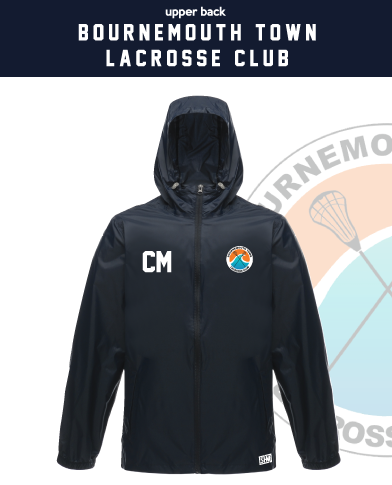 Bournemouth Town Lacrosse Navy Unisex Windbreaker (Logo Embroidery, Everything Else Print)