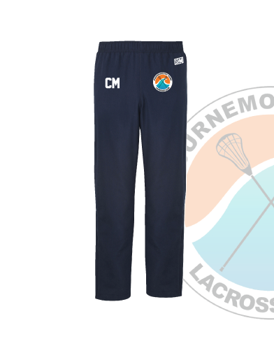 Bournemouth Town Lacrosse Navy Unisex Trackies (Logo Embroidery, Everything Else Print)