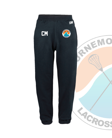Bournemouth Town Lacrosse Navy Unisex Sweatpants (Logo Embroidery, Everything Else Print)