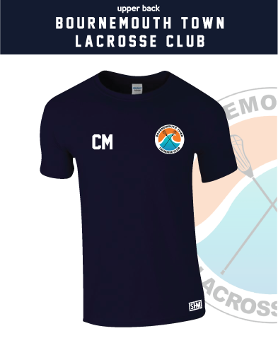 Bournemouth Town Lacrosse Navy Unisex Cotton Tee (All Print)