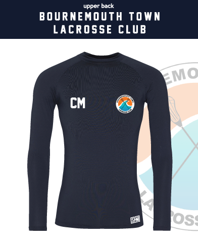Bournemouth Town Lacrosse Navy Mens Baselayer (All Print)