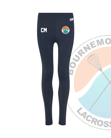Bournemouth Town Lacrosse Navy Womens Leggings (All Print)