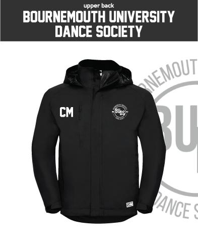 Bournemouth University Dance Womens Hydroplus Jacket (Logo Embroidery, Everything Else Print)