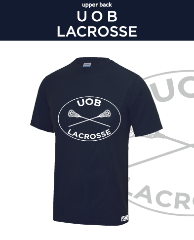Birmingham University Lacrosse Navy Womens Performance Tee (All Print)