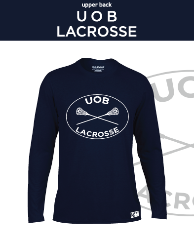 Birmingham University Lacrosse Navy Unisex Long Sleeve Performance Tee (All Print)