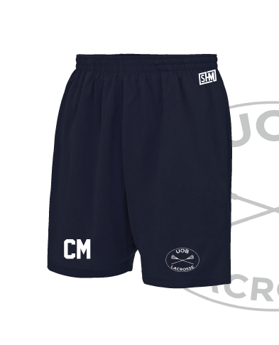 Birmingham University Lacrosse Navy Unisex Shorts (All Print)