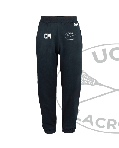 Birmingham University Lacrosse Navy Unisex Sweatpants (Logo Embroidery, Everything Else Print)