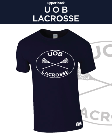 Birmingham University Lacrosse Navy Unisex Cotton Tee (All Print)
