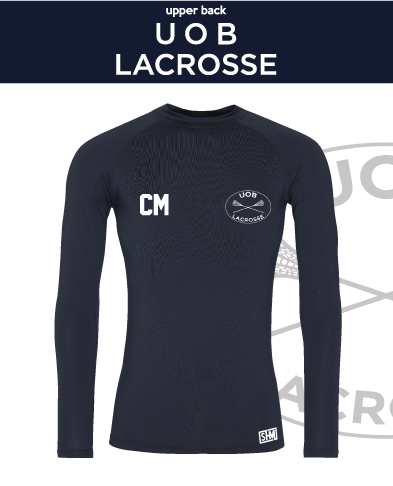 Birmingham University Lacrosse Navy Mens Baselayer (All Print)