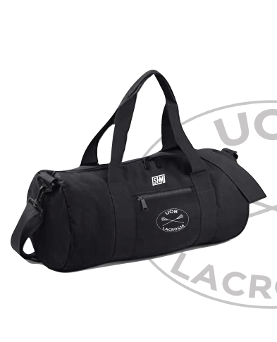 Birmingham University Lacrosse Black Barrel Bag (All Print)
